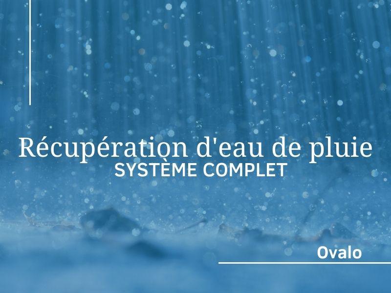 installation systeme récupération de pluie complet
