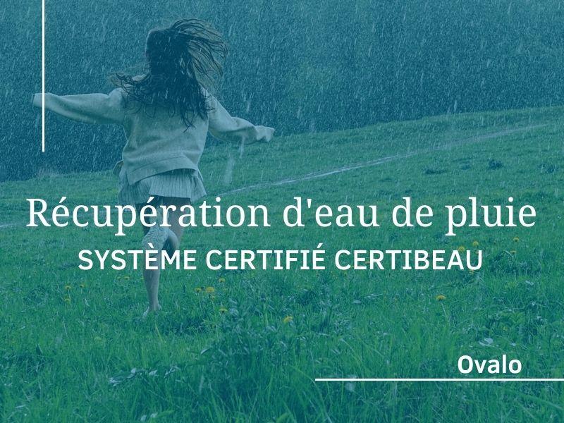 Système de récupération d'eau de pluie certifié CertIBEau